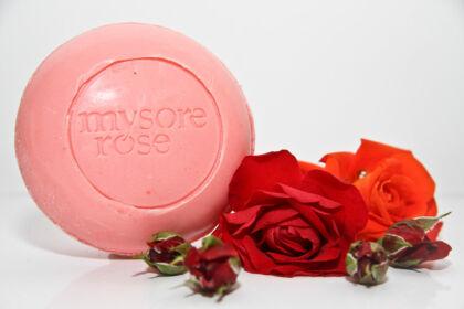 Mysore rózsa szappan kerek 150g
