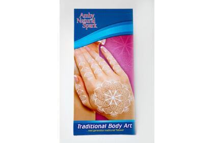 """Fehér """"henna"""" tetováló matrica 1. számú"""