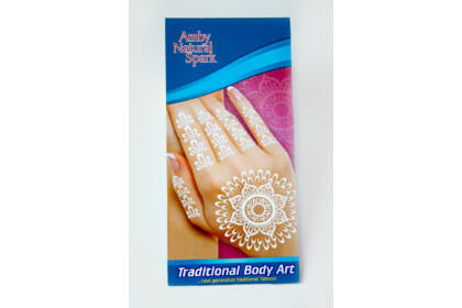 """Fehér """"henna"""" tetováló matrica 10. számú"""