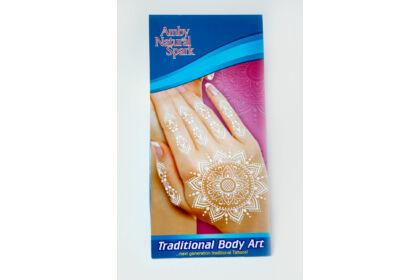 """Fehér """"henna"""" tetováló matrica 11. számú"""