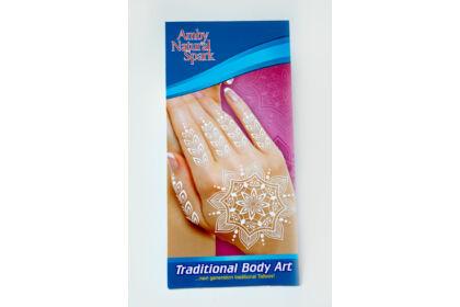 """Fehér """"henna"""" tetováló matrica 12. számú"""