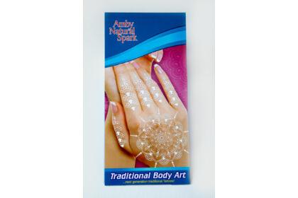 """Fehér """"henna"""" tetováló matrica 2. számú"""