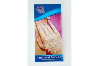 """Fehér """"henna"""" tetováló matrica 3. számú"""